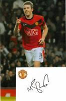 Micheal Carrick Signature With 12x8 Photo AFTAL / UACC