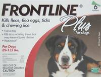 Frontline Plus for dogs 89 - 132 lbs 6 month Box!