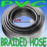 "19mm 3/4"" BRAIDED PVC HOSE CLEAR TUBING WATER AIR PIPE"