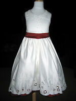 IVORY/RED GIRLS/FLOWER GIRL/BRIDESMAID/PARTY DRESS NEW