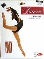 SILKY SHIMMER DANCE TIGHTS Stirrup Foot Toast 4 Adult Sizes S, M, L and XL