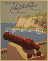 Discover Puerto Rico USA Americas Meet Vintage Poster
