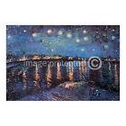Starry Night Over the Rhone van Gogh Art CANVAS PRINT