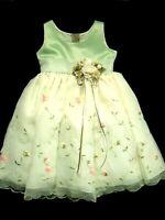 Girls Good Girl USA Ecru Sheer Party Dress Sz 2 Flower Girl Wedding