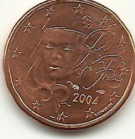 FRANCIA - FRANCE - FRANKREICH - 1 EURO CENT - 2004