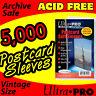 5000 SOFT POSTCARD SLEEVES  ACID FREE - ULTRA PRO 81225