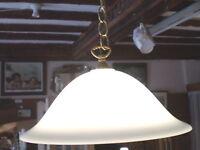 VINTAGE DANISH RETRO UFO CEILING LAMP AND SHADE