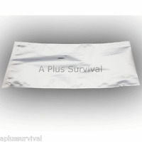 "2 Pack 10""x14"" Mylar Emergency Survival Food Grain Storage Bag 4.3 Mil #10 Can"