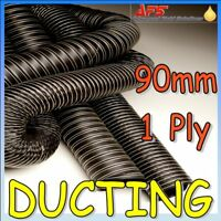 90mm ID 1 Ply Black Neoprene Cold Air Feed Ducting Pipe Silcone Brake Hose Hot
