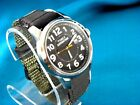NEW TIMEX BOLD BLACK FACE MILITARY STLYE 24 HOUR WATCH