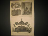 A. Lincoln Assassination  Conspiracy Engravings 1865