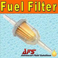 SMALL IN LINE FUEL FILTER Petrol & Diesel Hose Pipe 6mm