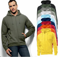 Hanes 6190 Plain Beefy Full Zip Hoodie Hooded Sweat Sweatshirt