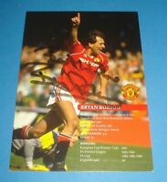 BRYAN ROBSON GENUINE HAND SIGNED AUTOGRAPH PHOTO CARD MANCHESTER UNITED + COA