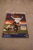 Bolton Wanderers V Barnsley 11th Nov 2000