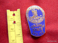 "VA VIRGINIA STATE POLICE TROOPER PROUD MINI SHIRT LAPEL PATCH BADGE PIN NEW 1"""