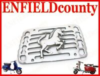 BRAND NEW VESPA ALLOY MADE SIDE PANEL GRILL RUNNING HORSE CHROME FINISH