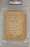 Circa 1958 NY Yankees team autographed signed sheet with Mantle & Martin PSA/DNA