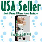USA Fast New Mirror LCD Screen Protector Cover Film for Apple iPhone 4S 4GS