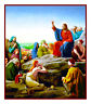 Jesus Sermon on the Mount by Carl Heinrich Bloch Counted Cross Stitch Chart