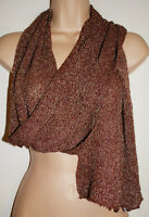 BNWT Siesta Red and Silver Shimmer Scarf  - Hippy Boho Ethnic Emo Fair Trade