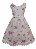 New Girls Floral Summer Party Pageant Dress from 3 to 7 Years
