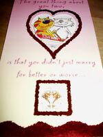 Wedding anniversary card BNIP white envelope animal theme quality card