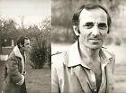 CHARLES AZNAVOUR LOT DE 2 BELLE PHOTOS ORIGINALES DE EPOQUES ALAIN MAROUANI -18+
