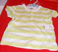 BABY BABIES BOYS GREEN & WHITE T SHIRT 6 - 9 MONTHS BRAND NEW WITH TAGS