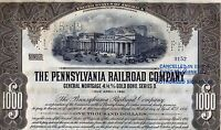 1931 Pennsylvania Railroad Bond Stock Certificate