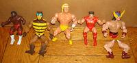 1980s Action Figure LOT x 5 WWF WWE Wrestling He Man HULK HOGAN USSR LJN Titan