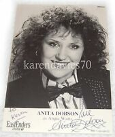 AUTOGRAPH ANITA DOBSON, ANGIE WATTS IN EASTENDERS RARE EARLY CAST CARD