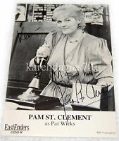 AUTOGRAPH PAM ST CLEMENT, PAT WICKS   IN EASTENDERS RARE EARLY CAST CARD