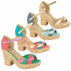 NEW WOMEN'S FASHIONABLE BLOCK HEEL SANDALS AVAILABLE IN UK SIZES 3-8