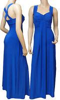 Long Evening Cross Back Maxi Dress (Royal Blue D1010) -  UK Size 8 - 22