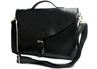 New Real leather men's handbag shoulder bag Briefcase laptop bag black Or brown