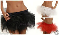 Black/White/Red Sexy Pettiskirt Mini Tutu Skirt Ballet Costume S-6XL Plus Size