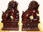 Feng Shui Chinese Oriental Red Fu Foo Dog Home Protection Lions Guardians Set WW