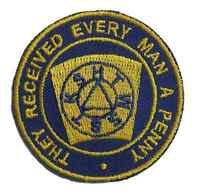 MASONIC FREEMASON (4th) MARK DEGREE EMBROIDERED PATCH BADGE with free UK postage