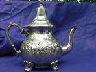 Moroccan handmade silver alloy teapot.