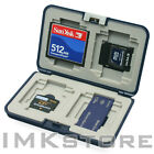 NEW MATIN Multi Memory Card Safe Carrying Case (Dark Navy) for CF SD SDHC MS XD