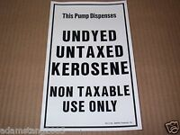 "NEW GILBARCO MARCONI ED-215 UNDYED UNTAXED KEROSENE SIGN DISPLAY DECAL 6"" x 10"""