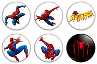 "Spiderman 6 x Combo 25mm 1"" Pin Badges Buttons Marvel Superhero Peter Parker"