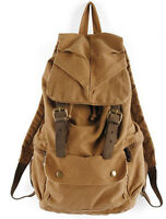 New Korea Mens womens Vintage Style Canvas Backpack Bag Rucksack Travel Bag