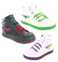 Mercury Hi Top Baseball Ankle Boots Skate Trainers Boys Girls UK13-6