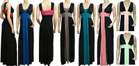 Grecian Style Evening Maxi Dress UK Size 22-26 (LR1050) Available In 4 Lengths