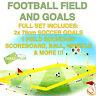 2x Soccer Goals Target Practice Ball & Pump Football Training Set Kids Junior