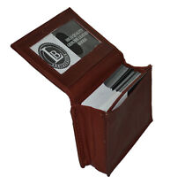 CREDIT CARD ID BUSINESS CARD MONEY HOLDER EXPANDABLE POCKET BROWN FREE SHIPPING