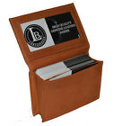 CREDIT CARD ID BUSINESS CARD MONEY HOLDER EXPANDABLE POCKET TAN FREE SHIPPING