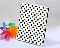 iPad 2 White with Black Dots NEW Magnetic PU Leather Cover Case with Smart Stand